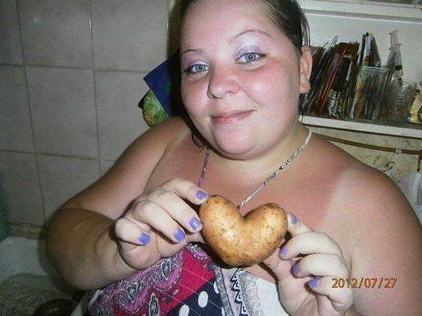 сердце картошка